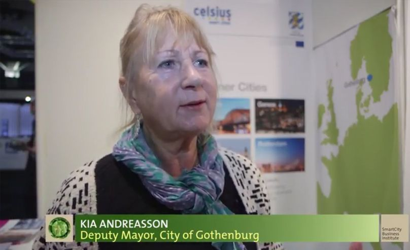 Kia Andreasson, Deputy Mayor of Gothemburg. SCEWC'14