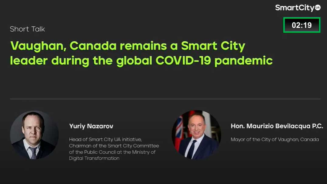 Vaughan, Canada, remains a smart city leader even under the global Covid-19 pandemic